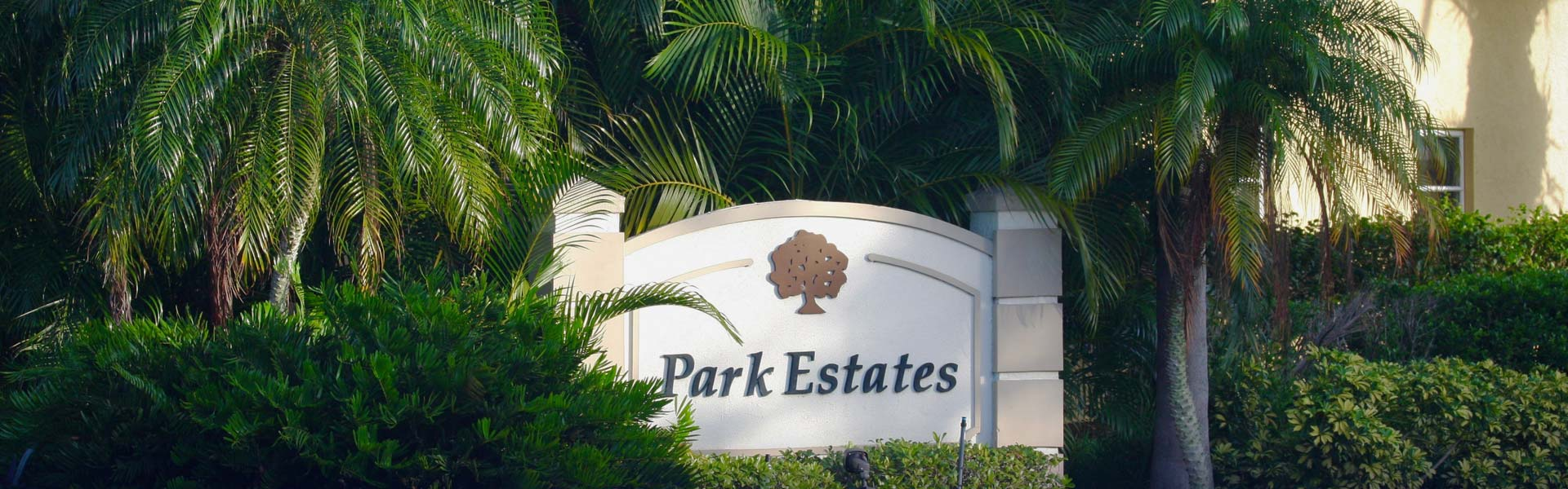 Park Estates Welcome Sign