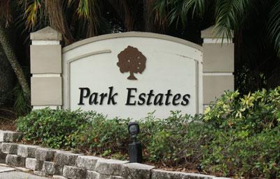 Park Estates Welcome Sign