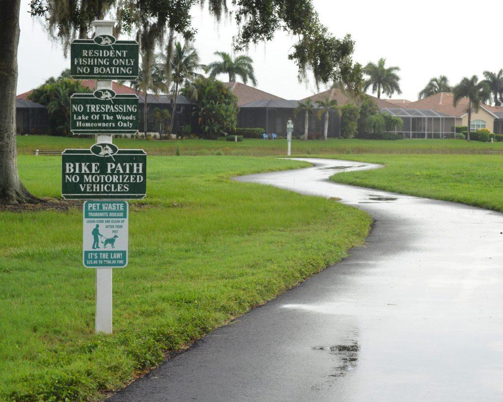 Bike path after a rainshower