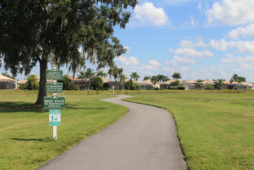 The walking and biking path.