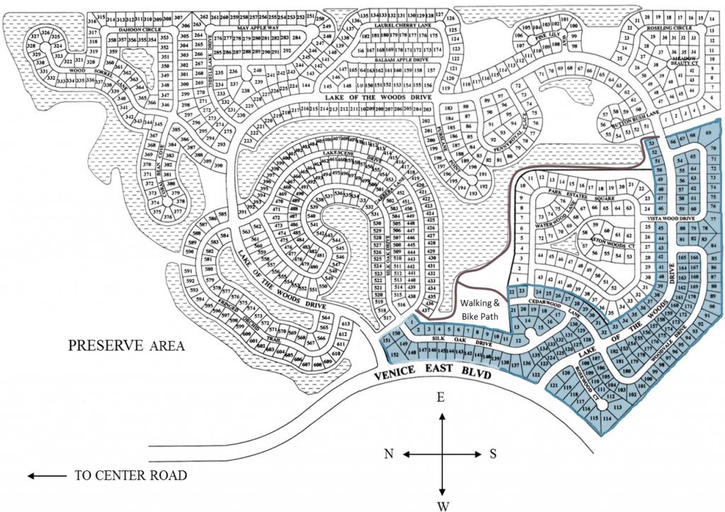 Lake of the Woods Neighborhood and Walking Path Map