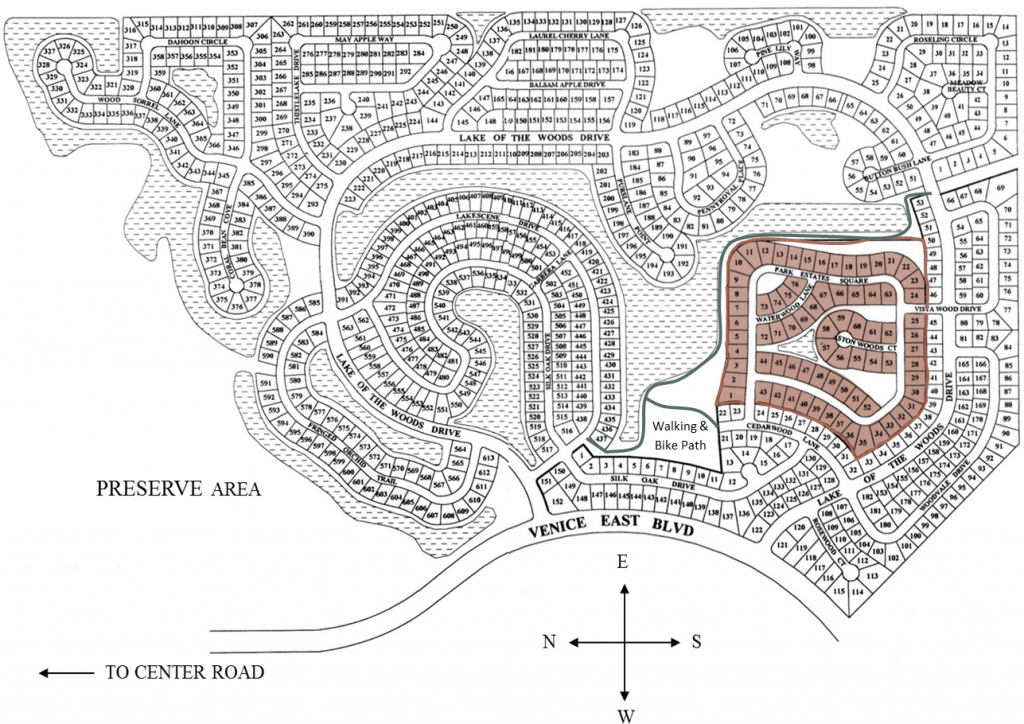 Park Estates Neighborhood and Walking Path Map