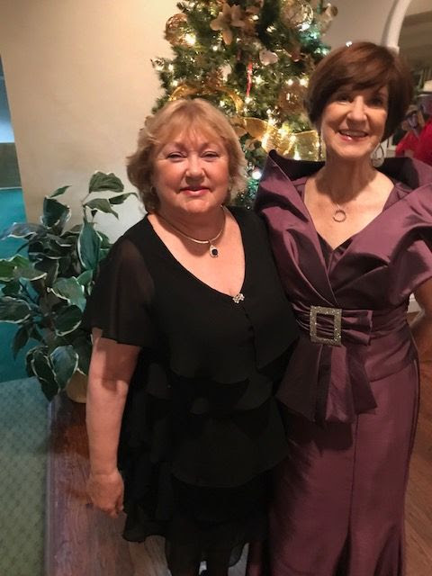 Judie Gollwitzer & Joan High at the 2018 Holiday Dinner Dance
